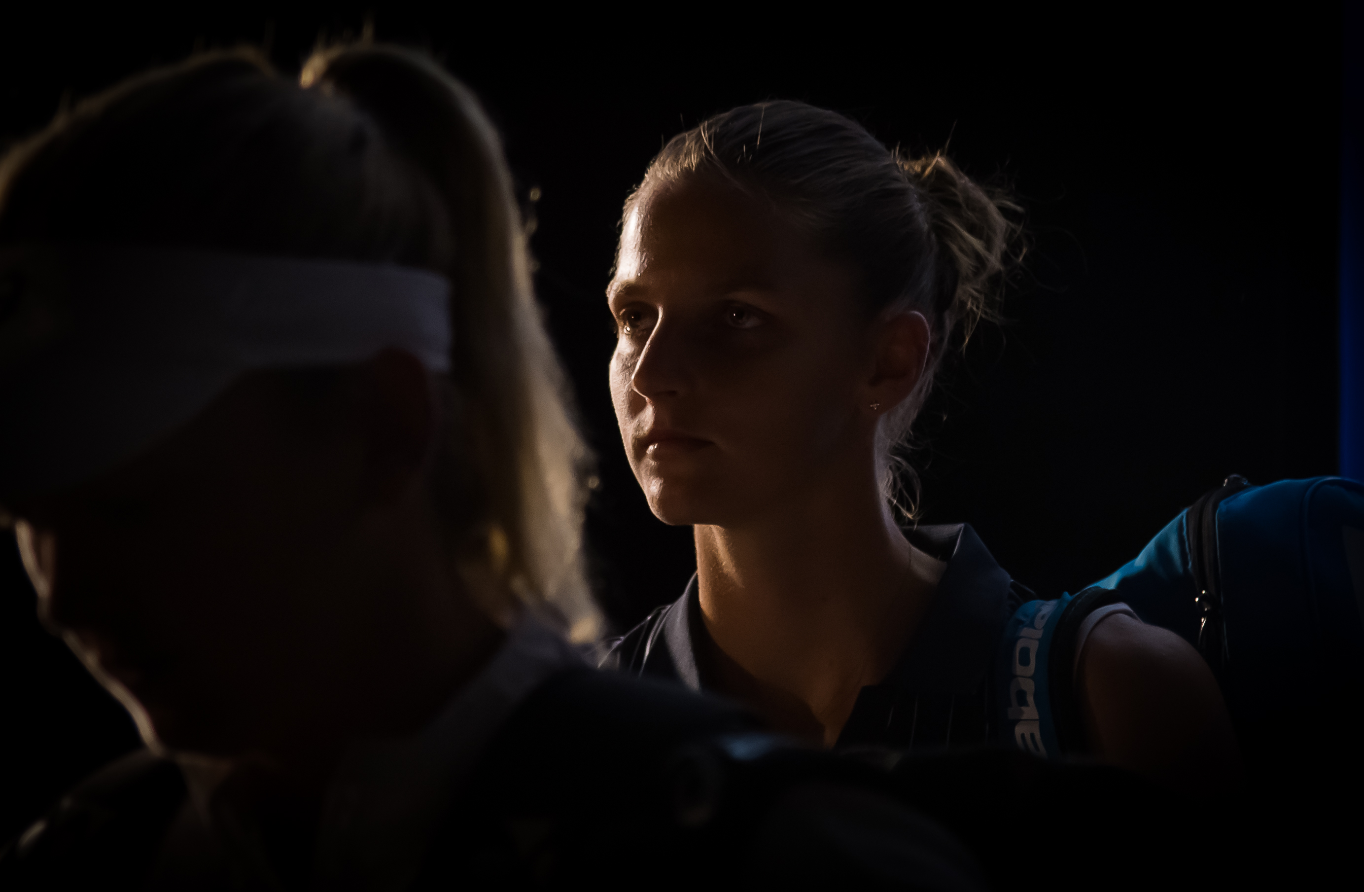 Karolina Pliskova before the final of the Porsche Tennis Grand Prix, WTA Stuttgart 2018