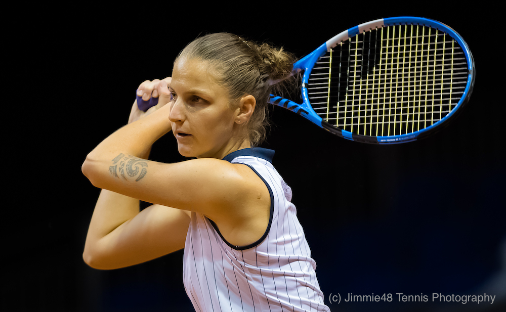 Karolina Pliskova in the second round of the Porsche Tennis Grand Prix, WTA Stuttgart 2018