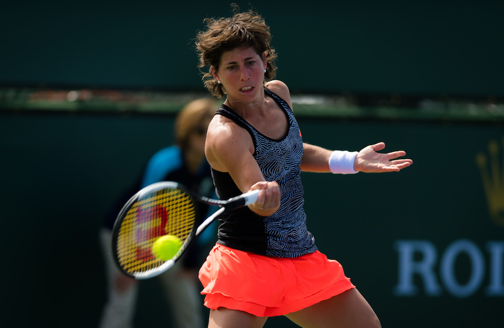 Carla Suarez Navarro in the second round of the BNP Paribas Open, Indian Wells 2019