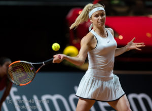 Elina Svitolina in the second round of the Porsche Tennis Grand prix, WTA Stuttgart