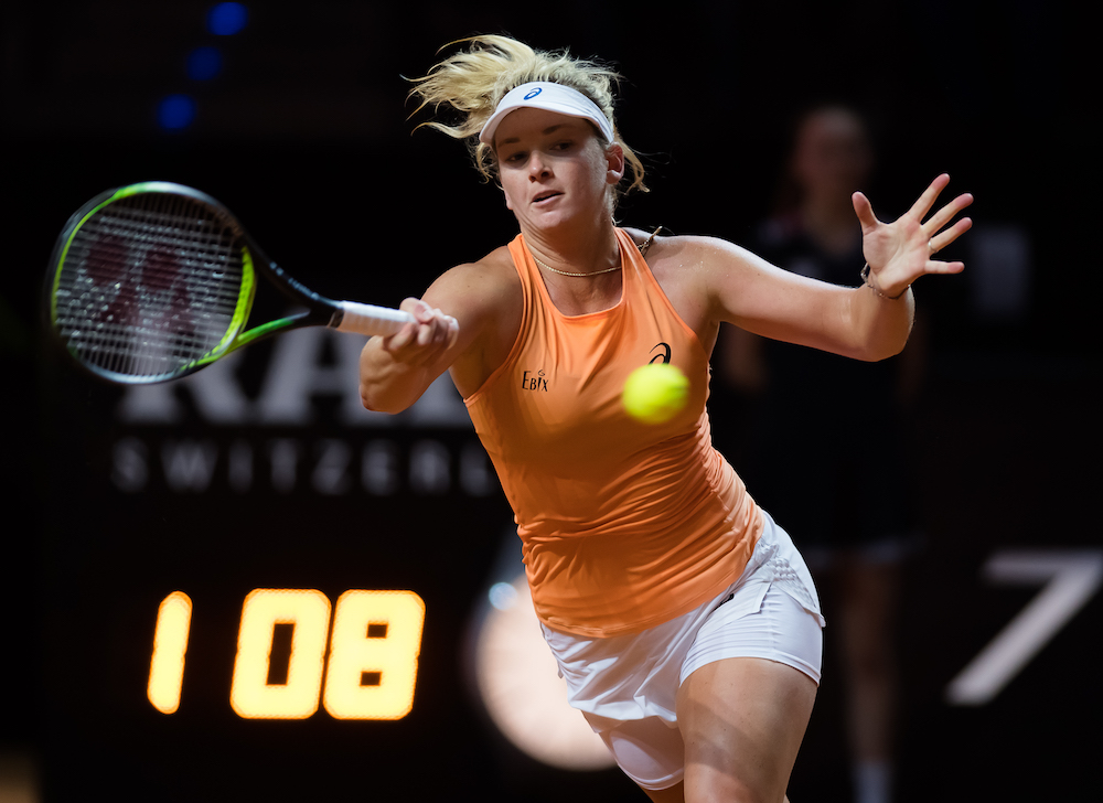 Coco Vandeweghe in the semi-final of the Porsche Tennis Grand Prix, WTA Stuttgart