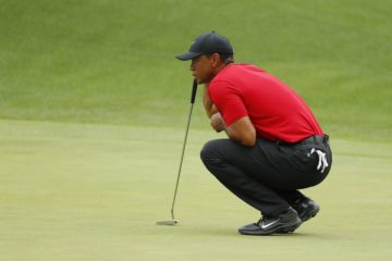 Tiger Woods in the final round of the Masters 2019, Augusta Georgia, USA
