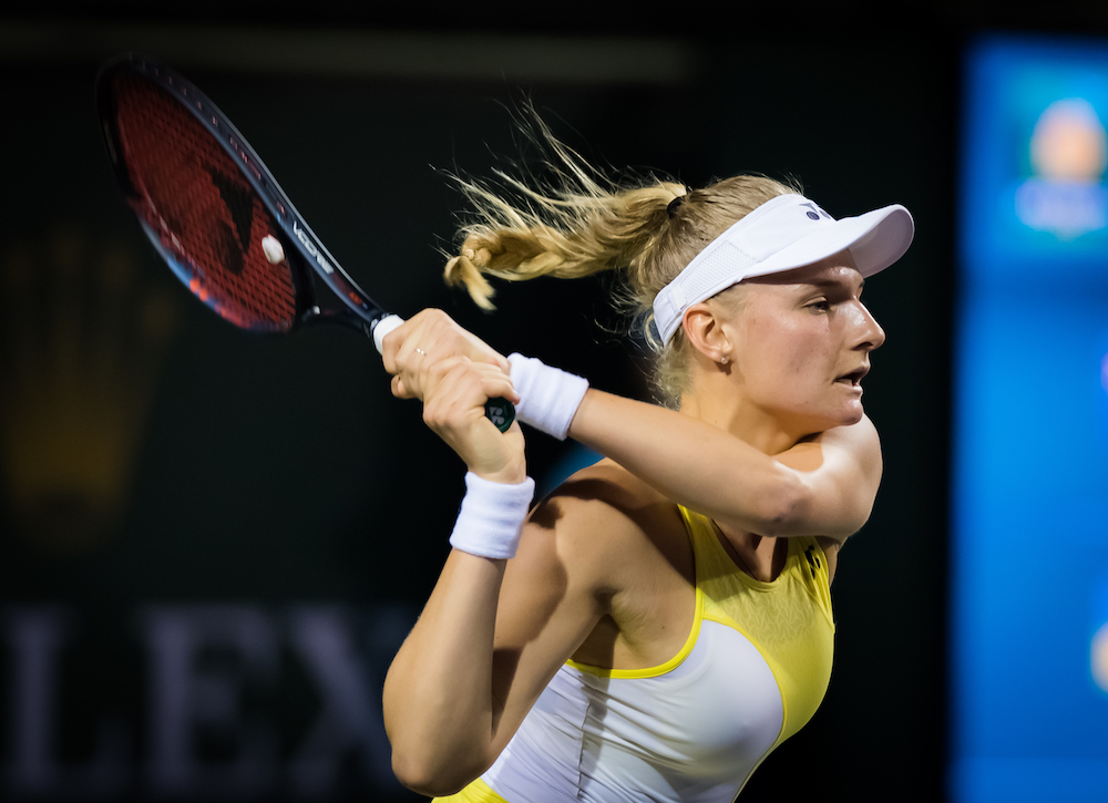 Dayana Yastremska in the first round of the BNP Paribas Open, Indian Wells 2019