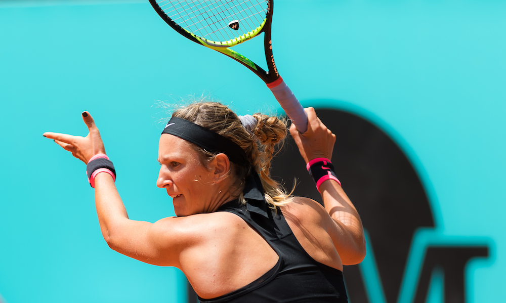 Victoria Azarenka in the first round of the WTA Mutua Madrid Open 2018