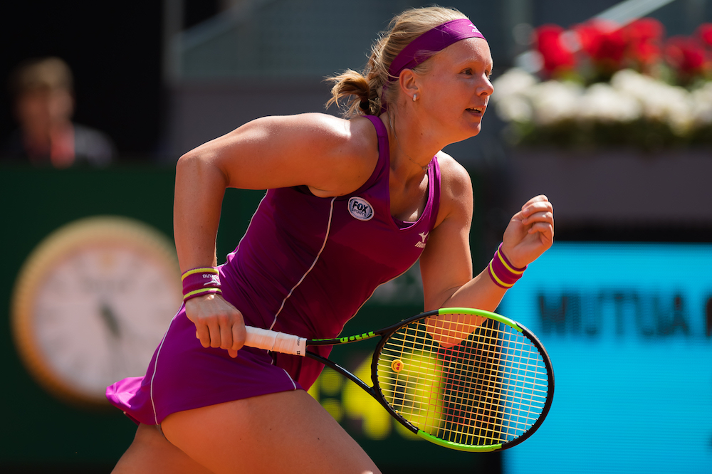 Kiki Bertens in the semi-final of the WTA Mutua Madrid Open, 2018