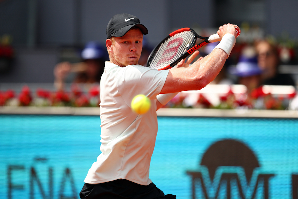 Kyle Edmund in the second round of the ATP Mutua Madrid Open, 2018
