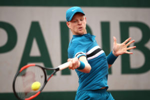 Kyle Edmund in the first round of Roland Garros, 2018
