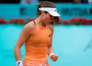 Johanna Konta in the first round of the WTA Mutua Madrid Open, 2018