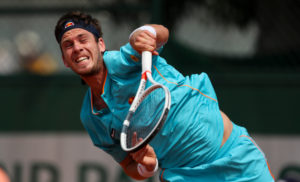 Cameron Norrie in the first round at Roland Garros, 2018