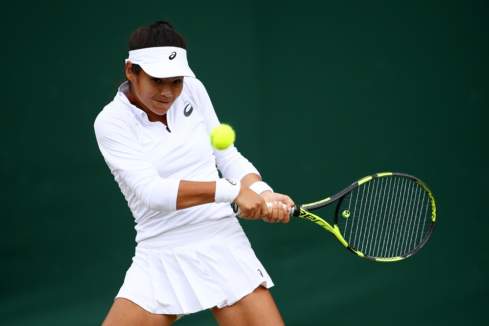 Emma Raducanu in the Wimbledon Girls Singles, 2017