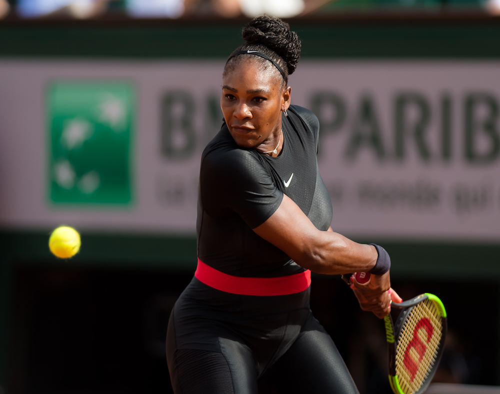 Serena Williams in the first round of Roland Garros, 2018