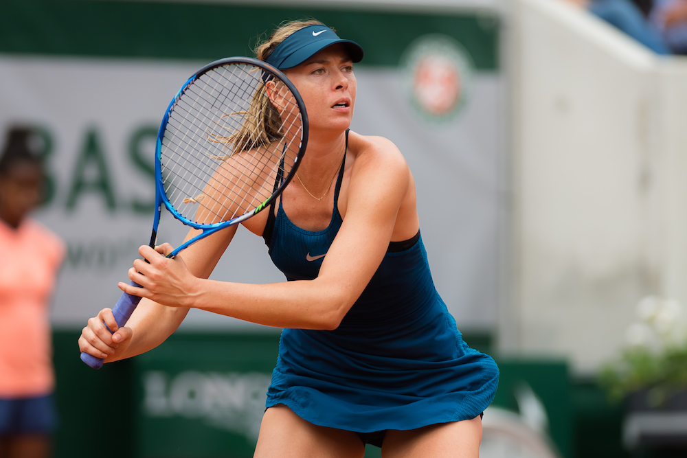 Maria Sharapova in the first round of Roland Garros, 2018