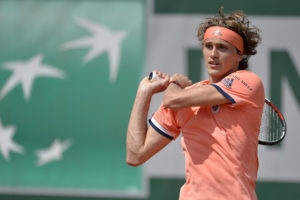 Alexander Zverev in the second round of Roland Garros, 2018
