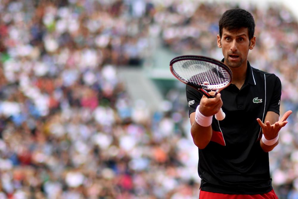 Novak Djokovic in the quarter-final of Roland Garros, 2018