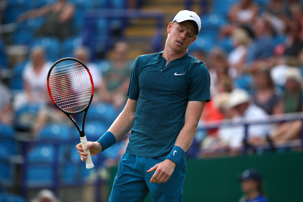 Kyle Edmund in the quarter-final of the Nature Valley International, ATP Eastbourne 2018