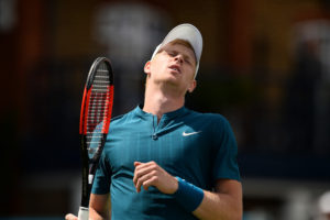 Kyle Edmund in the second round of the Fever-Tree Championships. ATP Queen's Club 2018