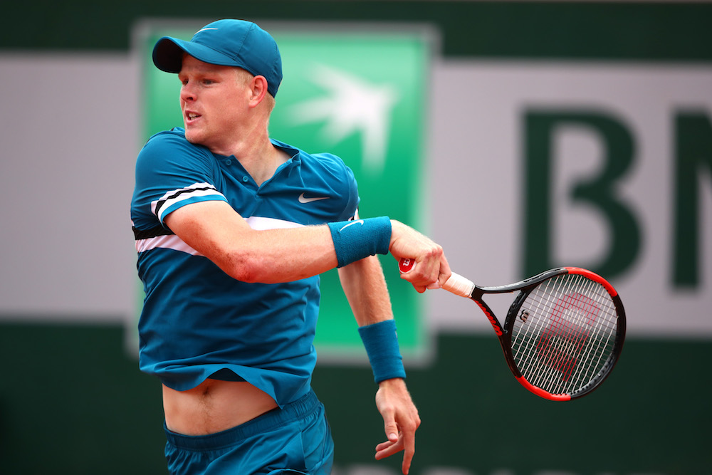 Kyle Edmund in the third round of Roland Garros, 2018