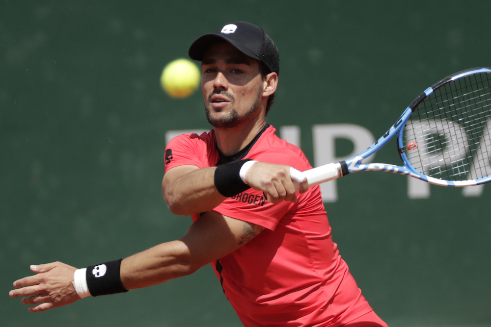 Fabio Fognini in the third round of Roland Garros, 2018
