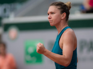 Simona Halep in the quarter-final of Roland Garros, 2018