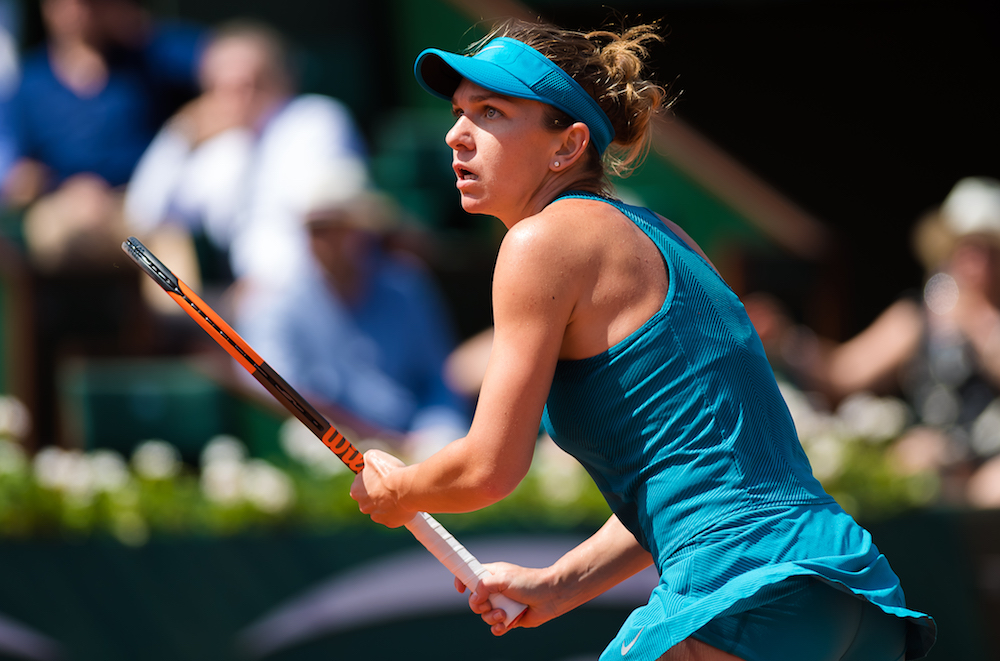 Simona Halep in the semi-final of Roland Garros 2018