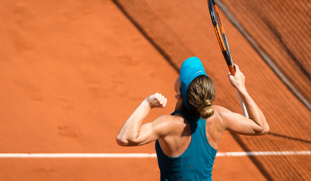Simona Halep in the semi-final of Roland Garros, 2018