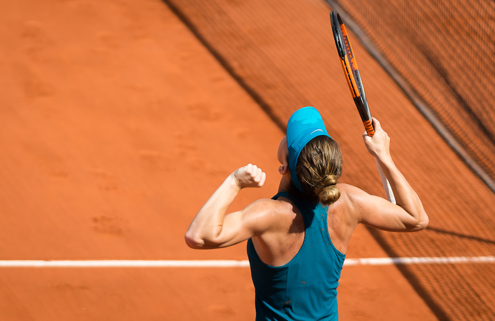 Simona Halep in the semi-final of Roland Garros, 2018