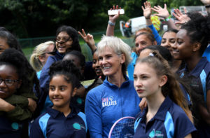 Judy Murray during the She Rallies initiative at the Nature Valley Classic, Birmingham 2018