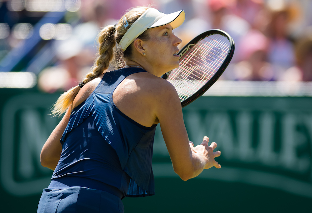 Angelique Kerber in the third round of the Nature Valley International, WTA Eastbourne 2018