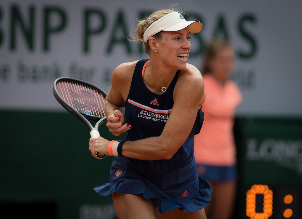 Angelique Kerber in the fourth round of Roland Garros, 2018