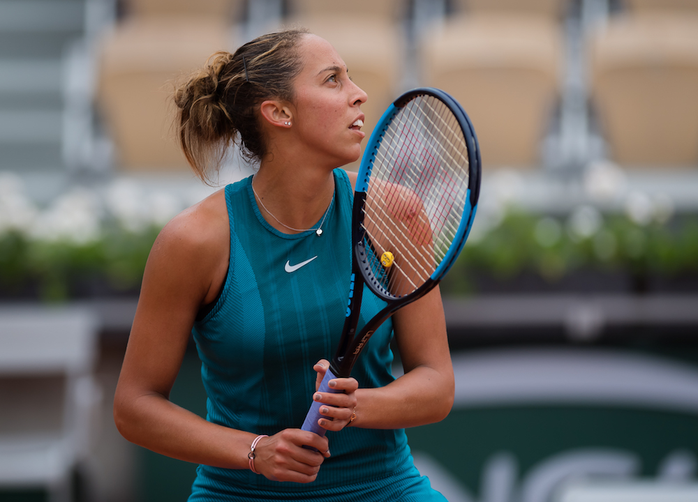 Madison Keys in the quarter-final of Roland Garros, 2018