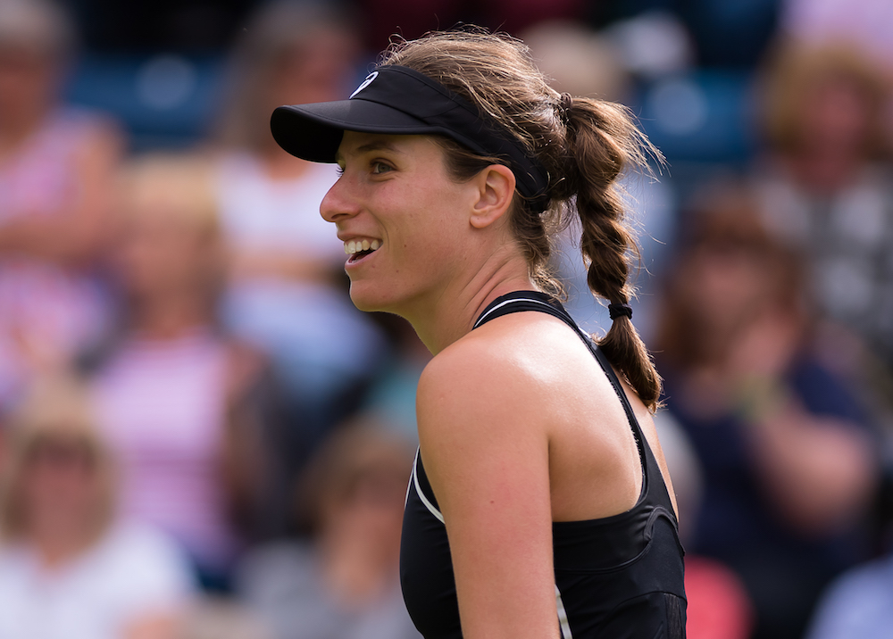 Johanna Konta in the first round of the Nature Valley Classic, WTA Birmingham 2018