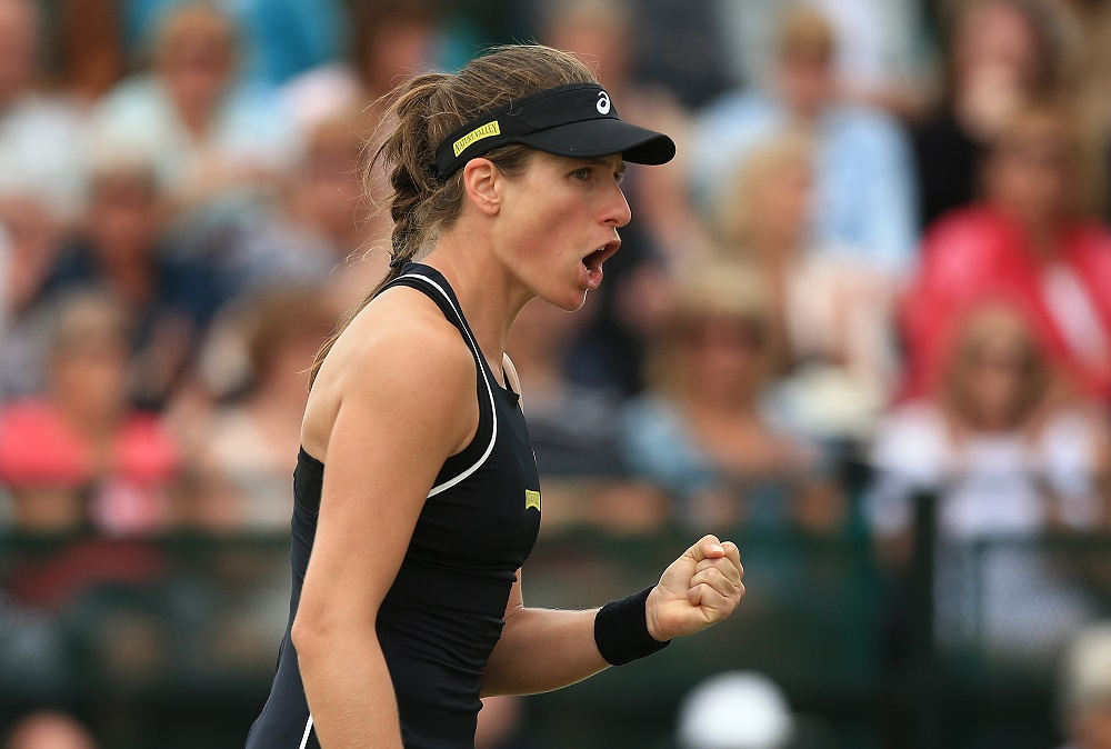 Johanna Konta in the quarter-final of the Nature Valley Open, WTA Nottingham 2018