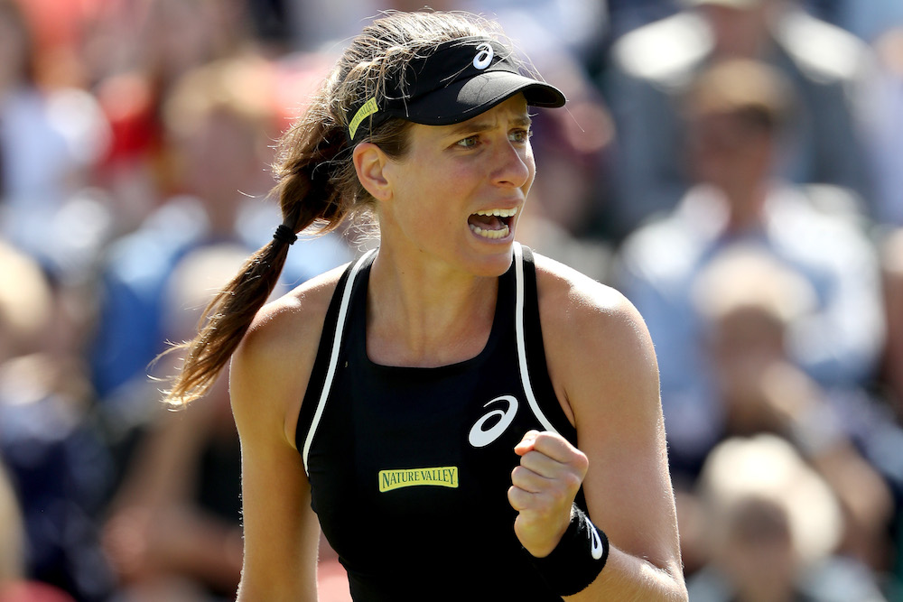 Johanna Konta in the second round of the Nature Valley Open, WTA Nottingham 2018