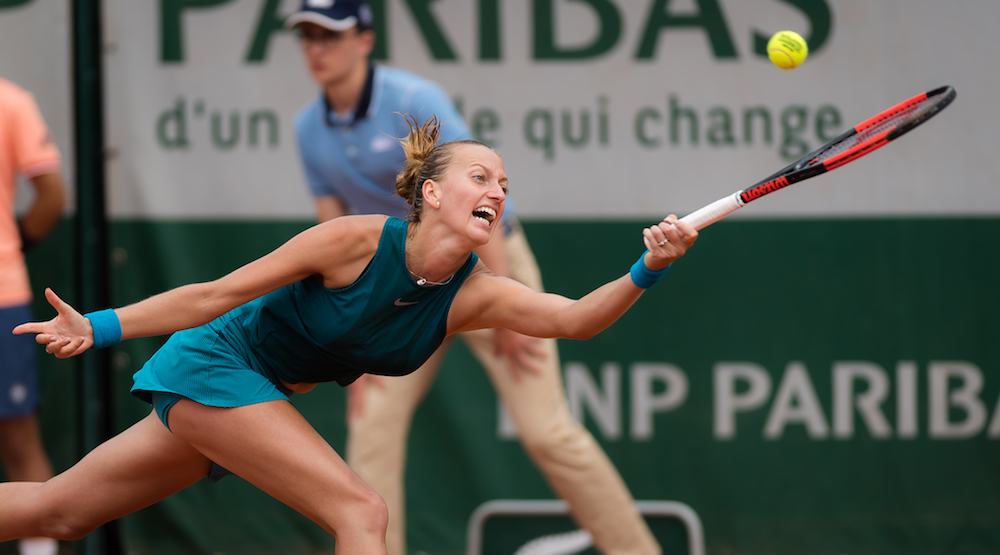 Petra Kvitova in the third round of Roland Garros, 2018