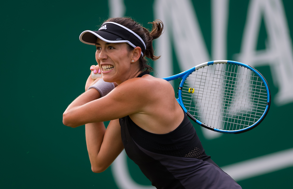 Garbine Muguruza in the first round of the Nature Valley Classic, WTA Birmingham 2018