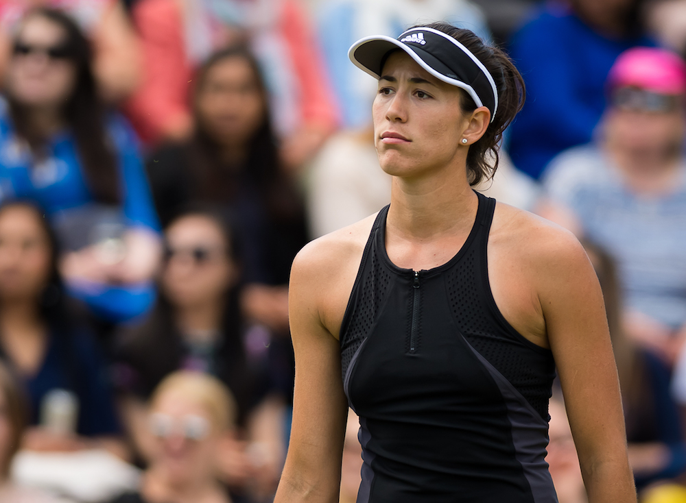 Garbine Muguruza in the second round of the Nature Valley Classic, WTA Birmingham 2018