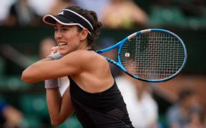 Garbine Muguruza in the third round of Roland Garros, 2018