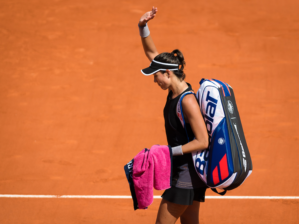 Garbine Muguruza in the semi-final of Roland Garros, 2018