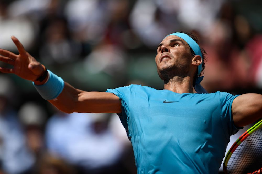 Rafael Nadal in the quarter-final of Roland Garros, 2018