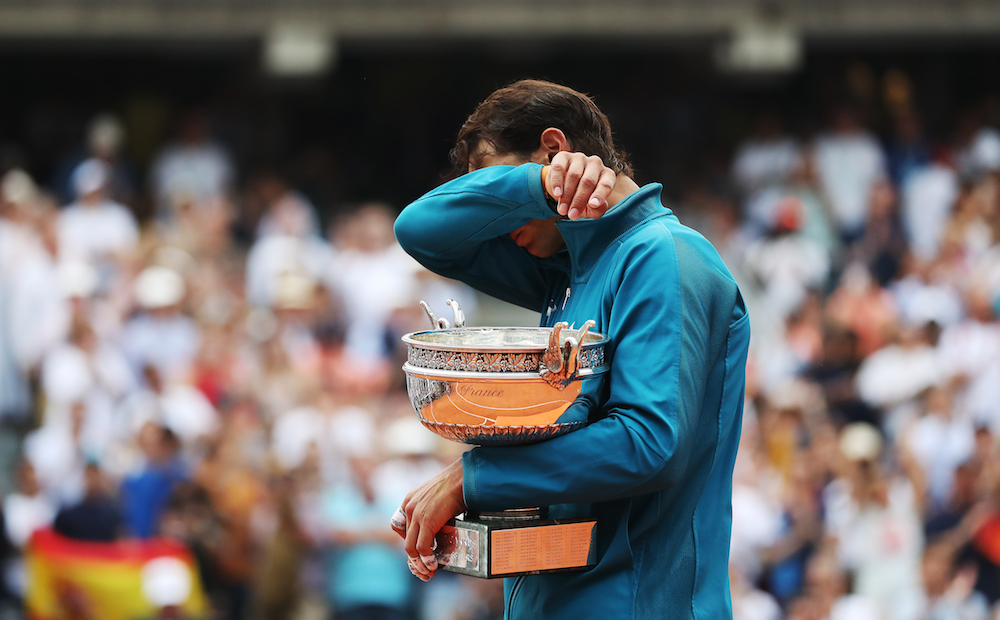 Rafael Nadal after winning an 11th Roland Garros title, 2018