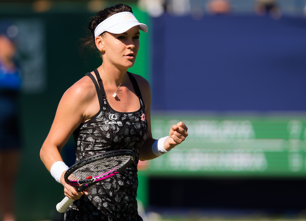 Agnieszka Radwanska in the second round of the Nature Valley International, WTA Eastbourne 2018