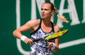 Magdalena Rybarikova in the quarter-final of the Nature Valley Classic, WTA Birmingham 2018