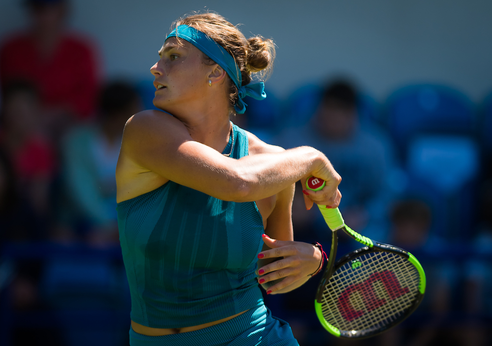Aryna Sabalenka in the second round of the Nature Valley International, WTA Eastbourne 2018