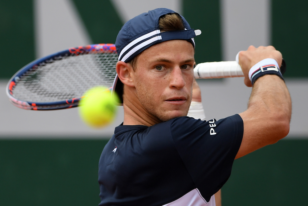Diego Schwartzman in the third round of Roland Garros, 2018