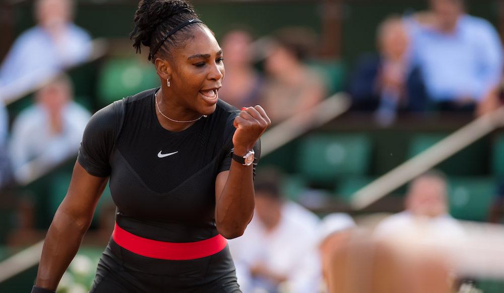 Serena Williams in the second round of Roland Garros, 2018