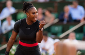 Serena Williams in the second round of Roland Garros, 2018