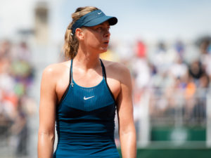 Maria Sharapova in the second round of Roland Garros, 2018