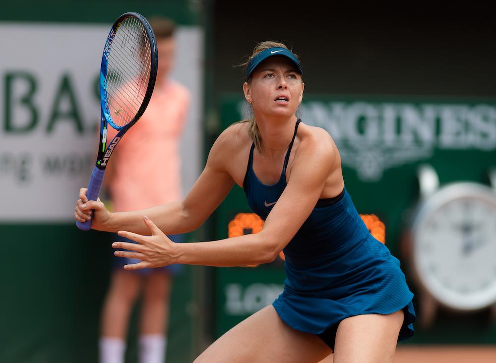 Maria Sharapova in the third round of Roland Garros, 2018