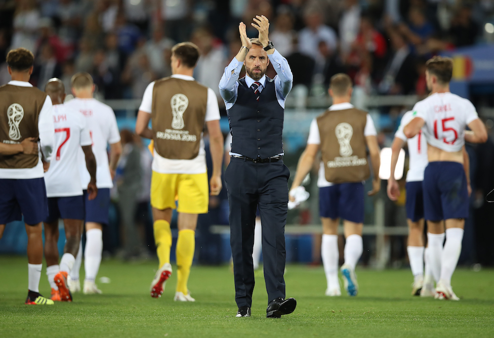 Gareth Southgate after England v Belgium at the 2018 World Cup