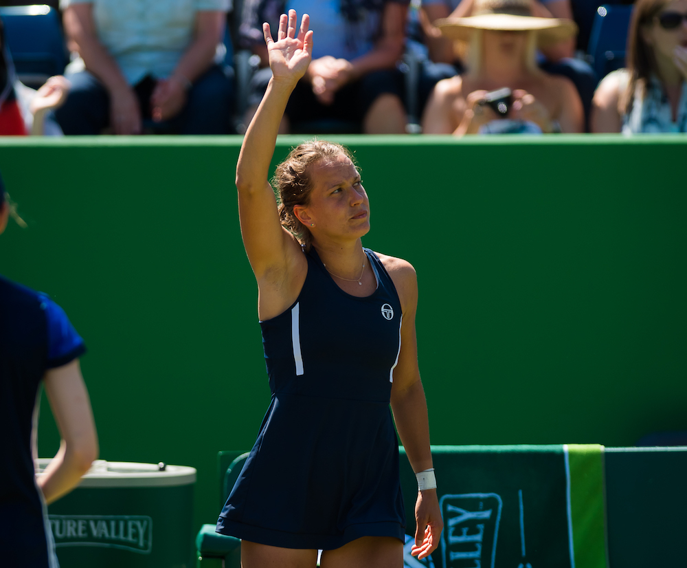 Barbora Strycova in the quarter-final of the Nature Valley Classic, WTA Birmingham 2018